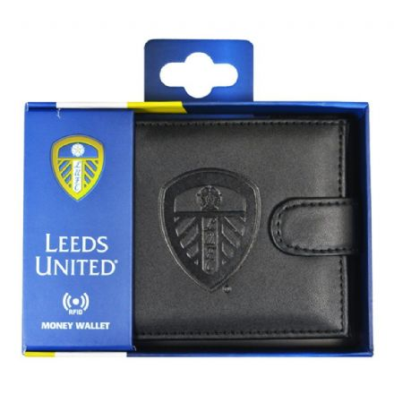 Leeds United RFID Embossed Leather Wallet